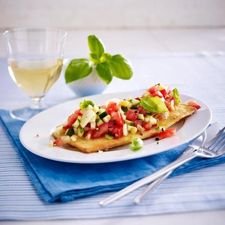 Würzige Bruschetta mit Tomaten und Zucchini Rezept