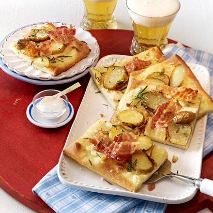 Würzige Kartoffelpizza Rezept