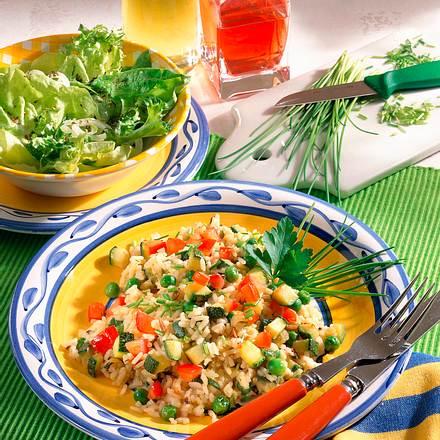 Würziger Gemüse-Reis Rezept