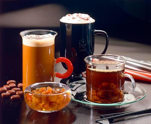 Würziger Kaffee mit Rosinen Rezept