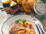 Würziges Apfelkompott zu Kasseler Rezept