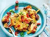 Würziges Rührei mit Chorizo Rezept