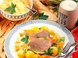 Wurzelfleisch mit Bouillon-Gemüse und Apfelkren Rezept