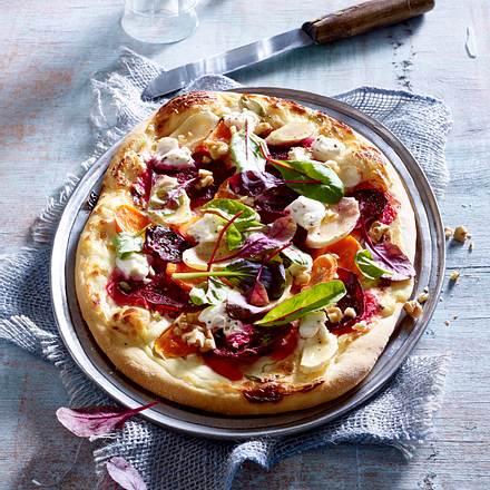 Wurzelgemüse-Pizza Rezept