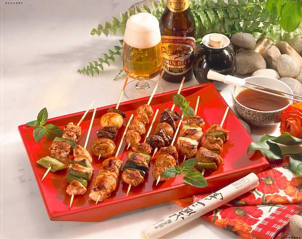 Yakitori (japanische Hähnchenspieße) Rezept