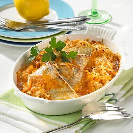 Zander auf Sauerkraut Rezept