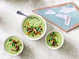 Zauberhafter Chorizo-Bonus auf Erbsen-Rosenkohl-Suppe Rezept