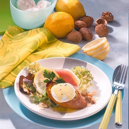 Ziegenkäse-Häppchen mit Salat Rezept