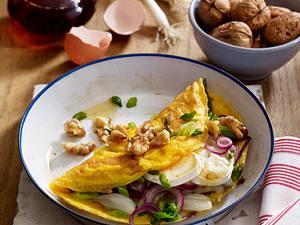 Ziegenkäse-Walnuss-Omelett für zwei Rezept