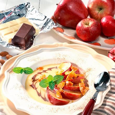 Zimt-Apfel in weißer Schokosoße Rezept