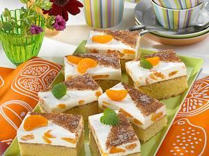 Zimt-Schnitten mit Mandarinen Rezept