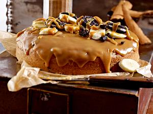 Zimtiges Keks-Bananen-Brot mit Erdnussbutter-Glasur Rezept