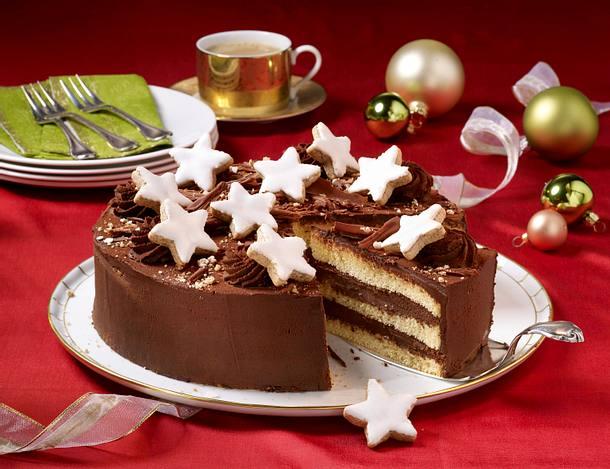 Zimtstern-Torte Rezept