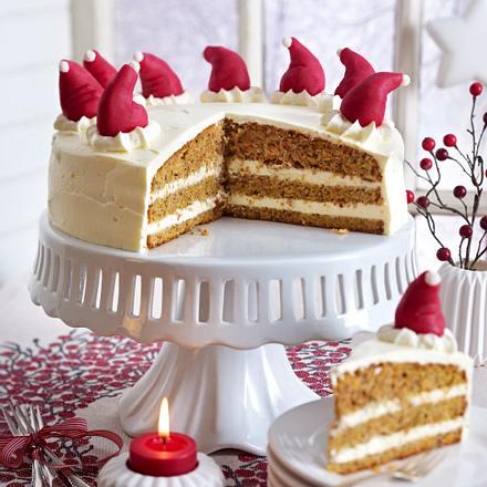 Zipfelige Möhren-Orangen-Torte Rezept