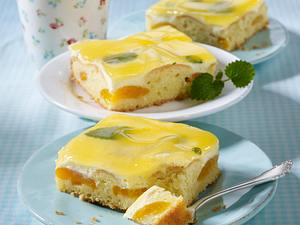 Zitronen-Aprikosenkuchen mit Fruchtsaftguss Rezept