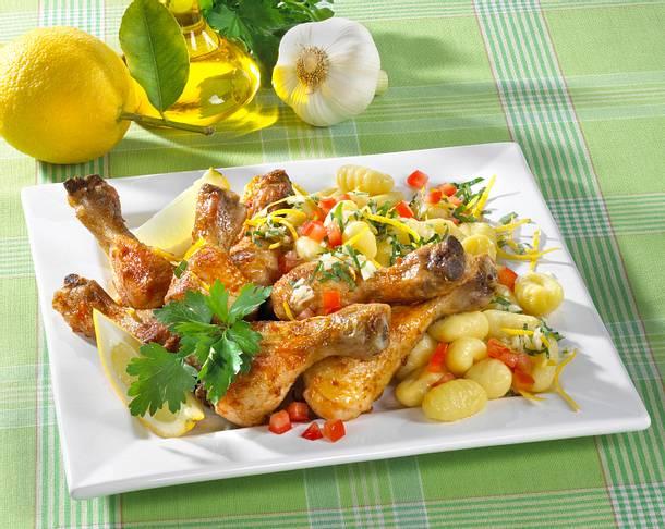 Zitronen-Hähnchen mit Gremolata-Gnocchi Rezept