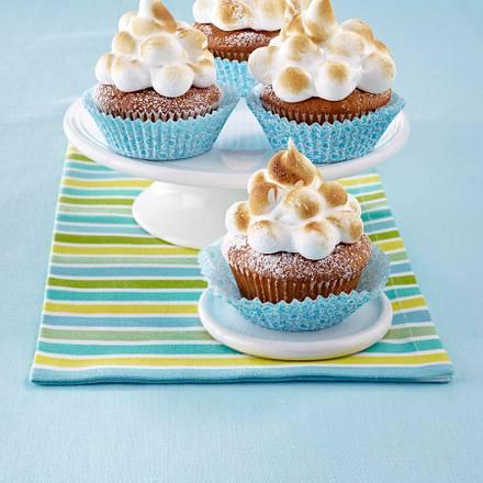 Zitronen-Joghurt-Cupcakes mit Baisercreme Rezept