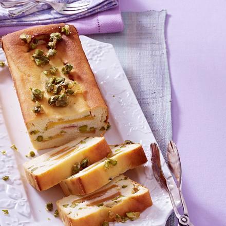 Zitronen-Käsekuchen mit Pfirsichen Rezept