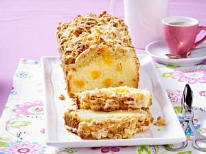 Zitronen-Kastenkuchen mit glasierten Cornflakes-Butter-Streusel Rezept