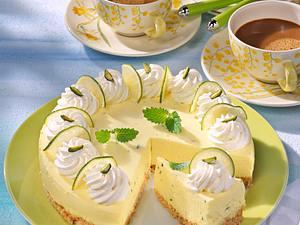 Zitronen-Limettentorte mit Butterkeksboden (für 16 Stücke) Rezept
