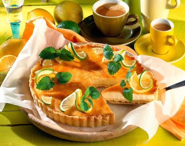 Zitronen-Mandel-Tarte Rezept