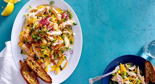 Zitronen-Mango-Hühnchensalat Rezept