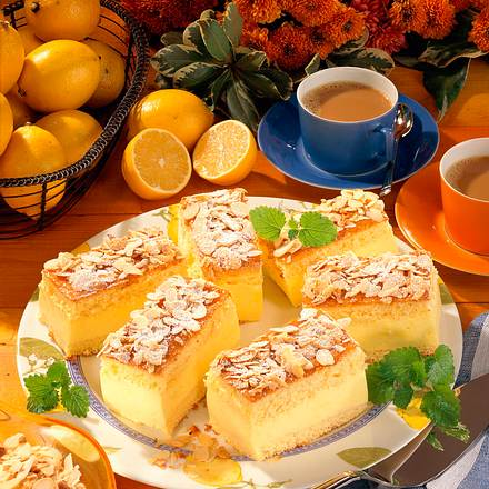 Zitronencreme-Schnitten Rezept