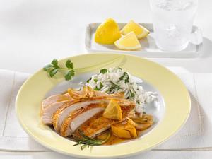 Zitronenhuhn mit Koriander-Reis Rezept