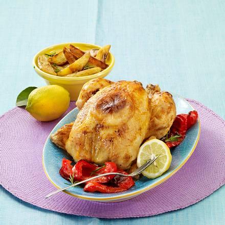 Zitronenhuhn mit Rosmarin-Kartoffeln Rezept
