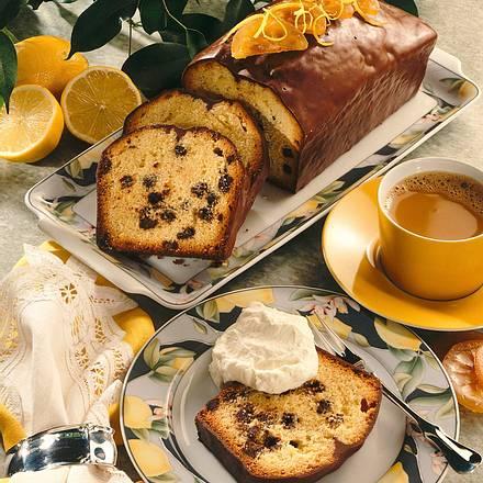 Zitronenkuchen mit Schokotröpfchen Rezept