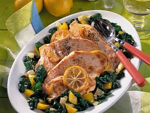 Zitronenschnitzel mit feinem Gemüse Rezept