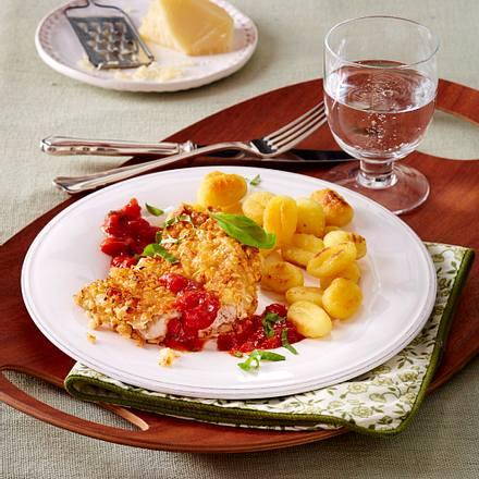 Zitronenschnitzel mit Gnocchi Rezept