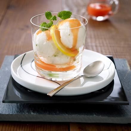 Zitronensorbet mit Melone Rezept