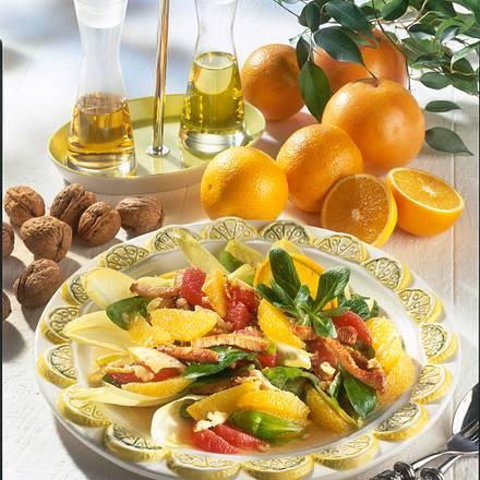 Zitrus-Salat mit Putenstreifen Rezept