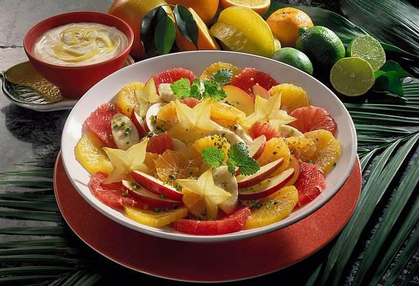 Zitrusfruchtsalat mit Eierlikör-Mascarpone Rezept
