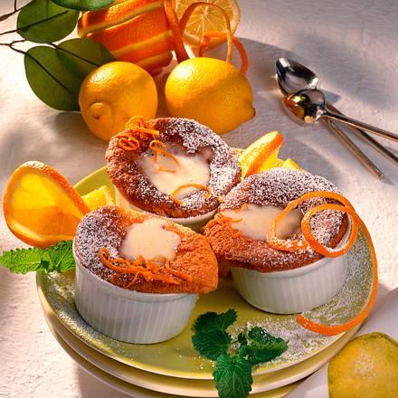 Zitrustörtchen mit Orangen-Vanillesoße (Diabetiker) Rezept