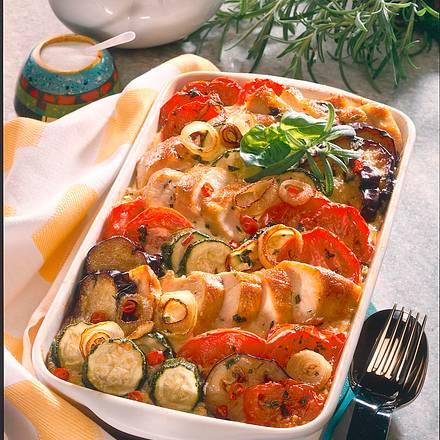 Zucchini-Auberginen-Auflauf Rezept