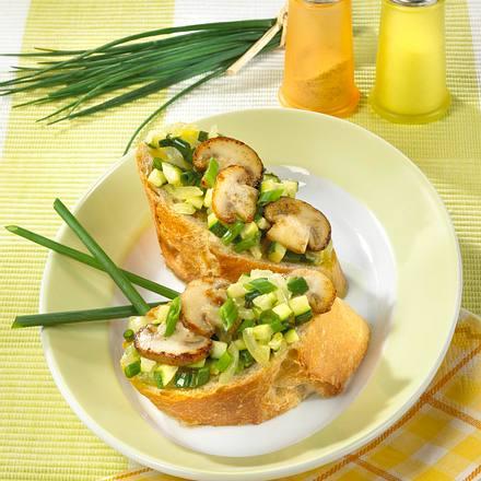 Zucchini-Champignon-Baguettes Rezept