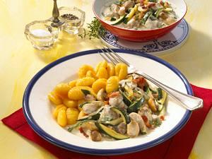 Zucchini-Champignon-Ragout Rezept