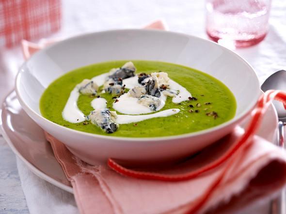 Zucchini-Cremesuppe mit Gorgonzola Rezept