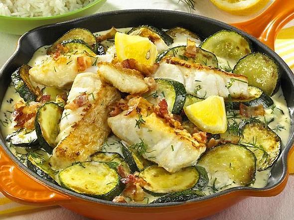 Zucchini-Fisch-Pfanne Rezept