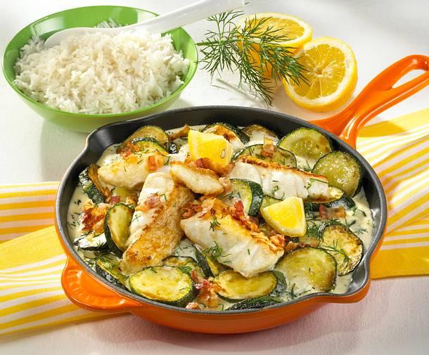 Zucchini-Fischpfanne Rezept
