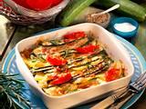 Zucchini-Gratin mit Lachsschinken Rezept
