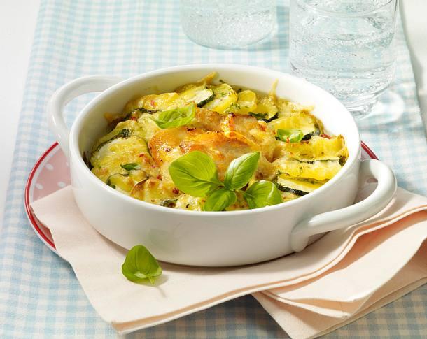 Zucchini-Kartoffel-Gratin mit Hähnchenfilet Rezept