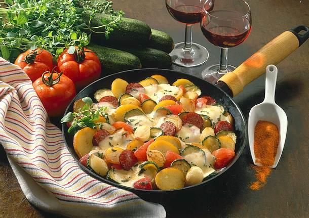 Zucchini-Kartoffel Pfanne Rezept