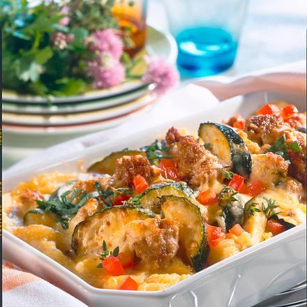 Zucchini-Mett-Auflauf Rezept