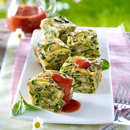 Zucchini-Minz-Würfel Rezept
