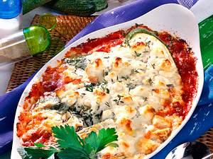 Zucchini mit Hack und Käsehaube Rezept