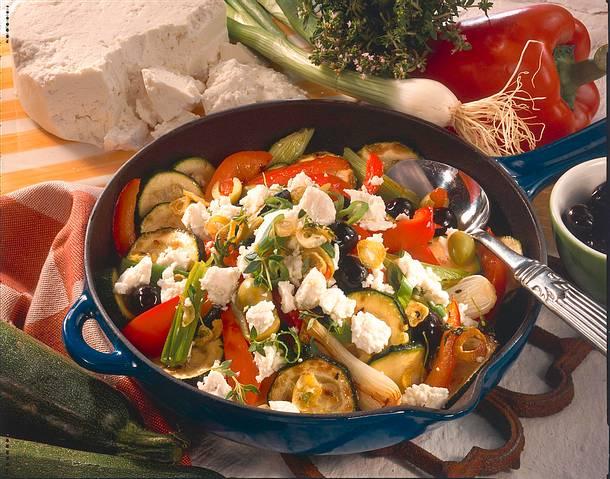 Zucchini-Paprika-Pfanne Rezept