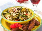 Zucchini-Reistopf mit Cevapcici Rezept